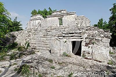 Maya Temple in Yucatan Mexico