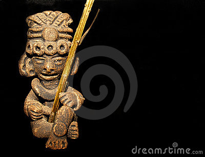 Maya warrior figure