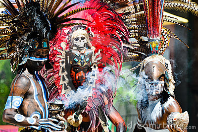 Mayan Ancient Warriors Editorial Photo