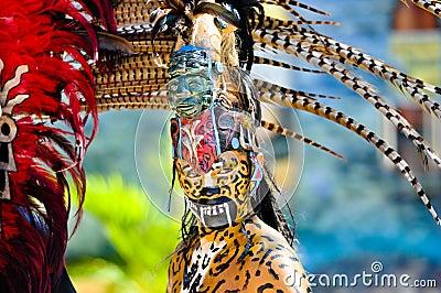 Mayan Ancient Warriors Editorial Stock Image