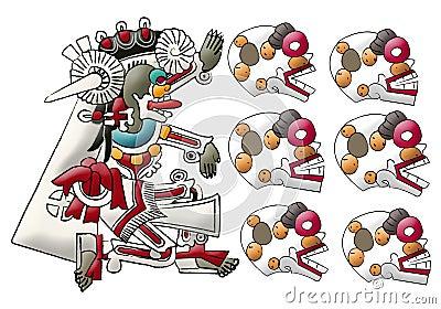 Mayan- Aztec deity Mictlan - lord of underword