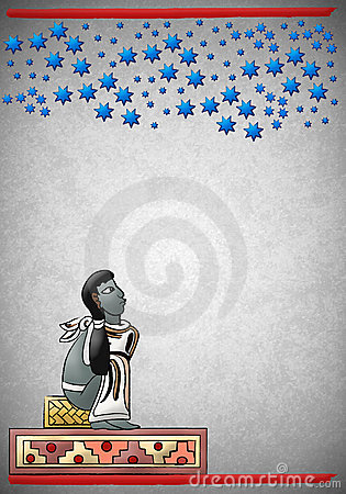 Mayan - Aztec observing the constellations in the
