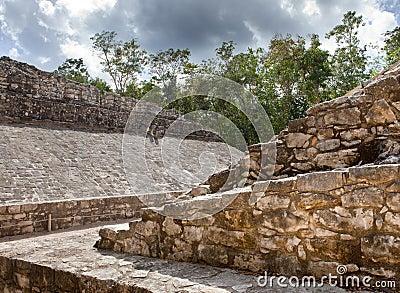 A Mayan Ball field, Yucatan, Mexico