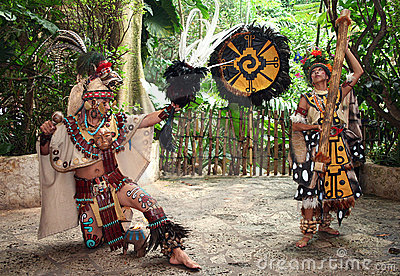Mayan Butterfly Dancers Editorial Photo