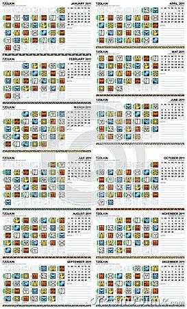 Mayan calendar 2011 (American)