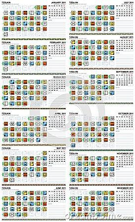 Royalty Free Stock Photos: Mayan calendar 2011 (