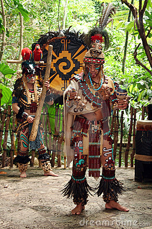 Mayan Celebration Dancer Editorial Stock Image