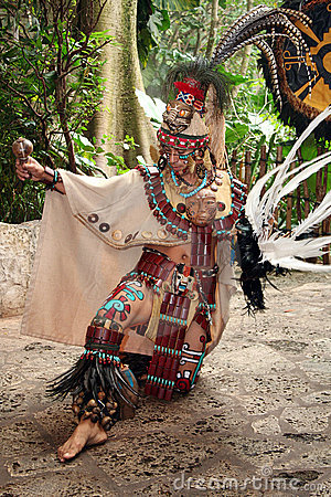 Mayan Celebration Dancer Editorial Image