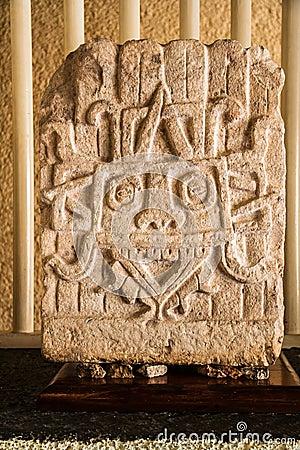 Mayan Chac Engraving Uxmal Mexico