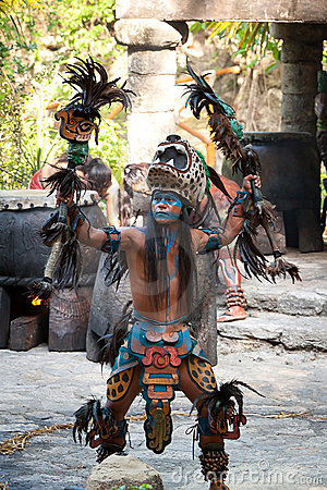 Mayan dance in the jungle Editorial Image