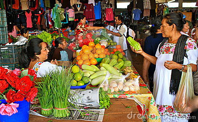 Mayan Fruit Market, Yucatan, Mexico Editorial Photography