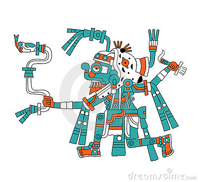 Mayan god of rain Tlaloc