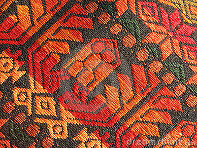 Mayan Homespun Textile Pattern Stock Photography - Image: 35032