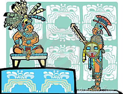 Mayan King and Warrior