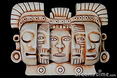 Mayan masks artifact