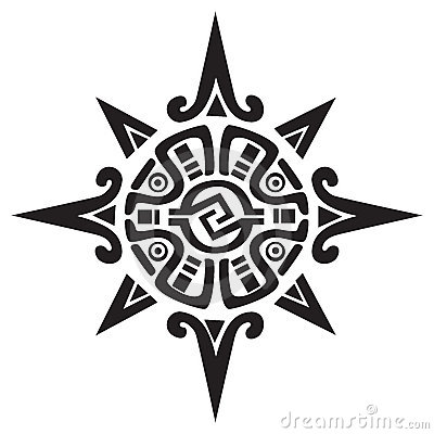 Free Mayan Or Incan Symbol Of A Sun Or Star Royalty Free Stock Image - 18353846