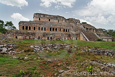 Mayan Palace in Sayil Yucatan Mexico