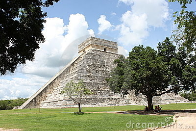 Mayan Pyramid in Chichen-Itza Mexico