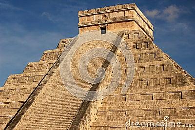 Mayan pyramid of Kukulkan, Mexico