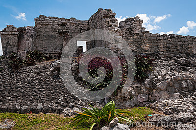 Mayan ruin in Tulum, Yucatan, Mexico.