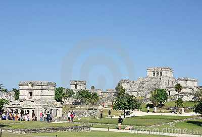 Mayan Ruins at Tulum in Mexico Editorial Stock Photo