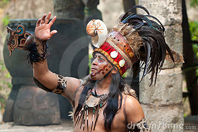 Mayan shaman Editorial Stock Photo