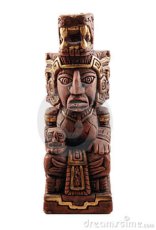 Mayan Statue From Mexico Stock Image - Image: 13414991
