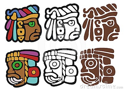 Mayan style glyphs