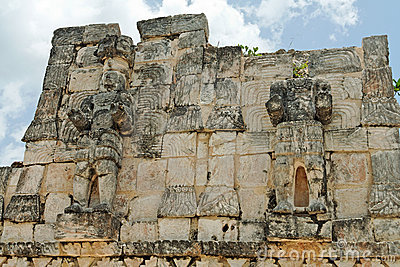 Mayan Temple in Kabah Yucatan Mexico