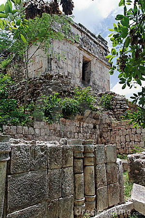 Mayan Temple in Kabah Yucatan Mexico