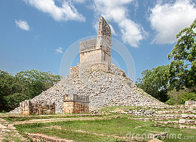 Mayan Temple in Labna Yucatan Mexico