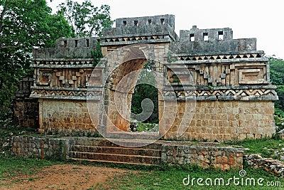Mayan Temple in Labna Yucatan Mexico