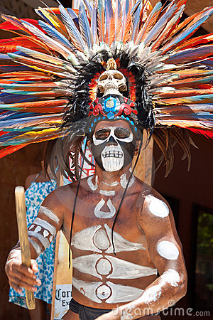 Mayan traditional ornamental feather head Editorial Stock Photo
