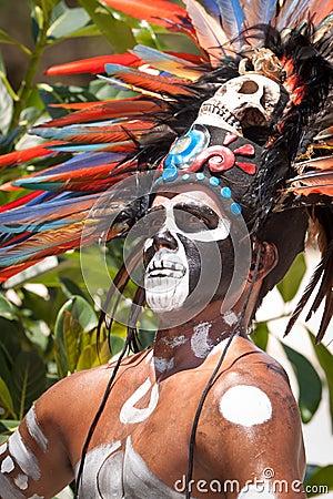 Mayan warrior Editorial Photography