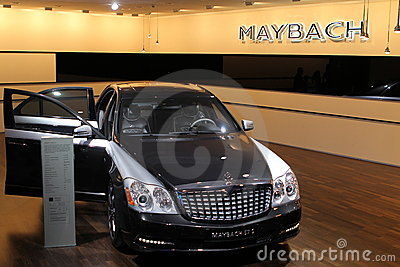 Maybach on 64rd IAA Editorial Stock Photo