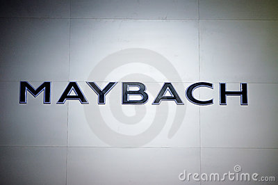 Maybach logo Editorial Image