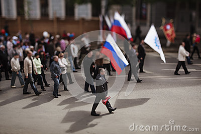 Mayday demonstration Editorial Stock Photo