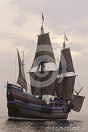 Mayflower II replica Editorial Photography