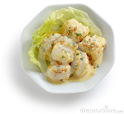 Mayonnaise shrimp