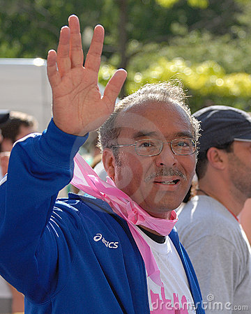 Mayor Coleman at the 2008 Race for the Cure Editorial Photography