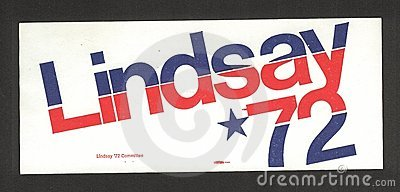 Mayor John Lindsay Campaign Sticker Editorial Photography