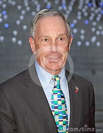 Mayor Michael Bloomberg Editorial Photography