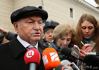 Mayor of Moscow Jury Luzhkov Editorial Image