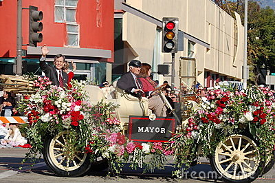 Mayor at Rose Parade Pasadena Editorial Photography