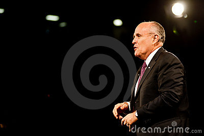 Mayor Rudy Giuliani Editorial Photography