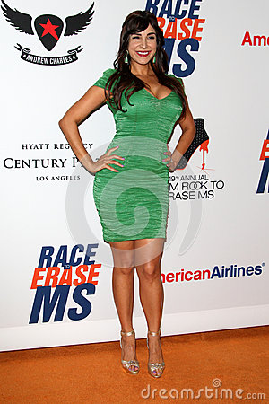 Mayra Veronica arrives at the 19th Annual Race to Erase MS gala Editorial Photography