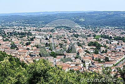 Mazamet (France), panoramic view