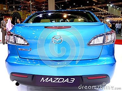 Mazda 3 Rear End Editorial Stock Photo