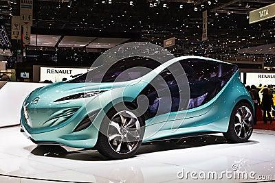 Mazda concept car at Geneva motorshow Editorial Photography
