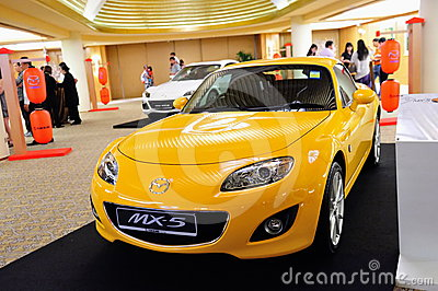 Mazda MX-5 roadster on display Editorial Photo